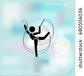 vector illustration. gymnast... | Shutterstock .eps vector #680506036