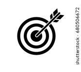 target and arrow icon. perfect... | Shutterstock .eps vector #680506672