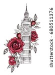 london   poster design with... | Shutterstock . vector #680511376