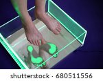 orthopedics  foot podoscope... | Shutterstock . vector #680511556