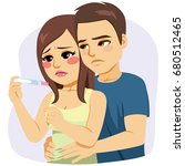 worried couple with negative... | Shutterstock .eps vector #680512465