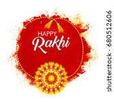 colorful decorative rakhi on... | Shutterstock .eps vector #680512606