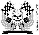 chopper skull tattoo insignia... | Shutterstock .eps vector #680514712