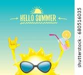 hello summer rock n roll vector ... | Shutterstock .eps vector #680516035