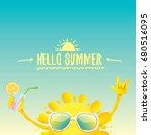 hello summer rock n roll vector ... | Shutterstock .eps vector #680516095