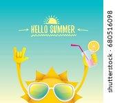 hello summer rock n roll vector ... | Shutterstock .eps vector #680516098