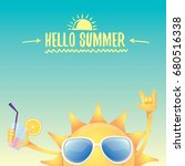 hello summer rock n roll vector ... | Shutterstock .eps vector #680516338