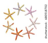 collection of starfish hand... | Shutterstock .eps vector #680518702