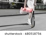 female tennis player  no face ... | Shutterstock . vector #680518756
