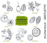 superfood  hand drawn sketch ... | Shutterstock .eps vector #680518795