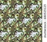 vector pattern abstract... | Shutterstock .eps vector #680525125