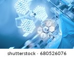 surgical light in the operating ... | Shutterstock . vector #680526076