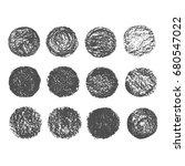 grunge chalk circles texture... | Shutterstock .eps vector #680547022