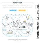 flat line illustration of new... | Shutterstock . vector #680548606