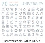 set of line icons  sign and... | Shutterstock . vector #680548726
