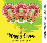 happy onam vector illustration... | Shutterstock .eps vector #680551306