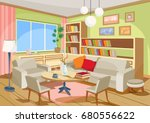 vector illustration of a cozy... | Shutterstock .eps vector #680556622