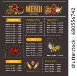 vector illustration of a menu... | Shutterstock .eps vector #680556742