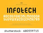 set of stylized alphabet... | Shutterstock .eps vector #680559715