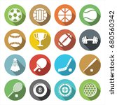 big stock of sports icon on...   Shutterstock .eps vector #680560342