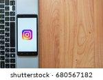 los angeles  usa  july 18  2017 ... | Shutterstock . vector #680567182