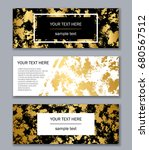 set of white  black and gold... | Shutterstock .eps vector #680567512