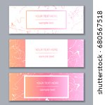 set of white and pink banners... | Shutterstock .eps vector #680567518