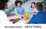 multiethnic startup business...   Shutterstock . vector #680570086