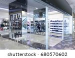bright and fashionable window... | Shutterstock . vector #680570602