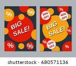 big sale colorful two sided... | Shutterstock .eps vector #680571136