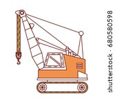 crane construction isolated icon | Shutterstock .eps vector #680580598