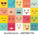 emoticons pattern. emoji square ... | Shutterstock . vector #680586736