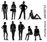 man male woman female fashion... | Shutterstock .eps vector #68058715