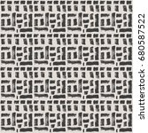 vector tie dye seamless pattern.... | Shutterstock .eps vector #680587522