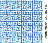 vector tie dye seamless pattern.... | Shutterstock .eps vector #680587546
