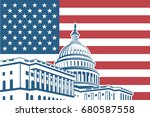 united states capitol building... | Shutterstock .eps vector #680587558