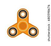 fidget spinner  hand spinner... | Shutterstock .eps vector #680598676