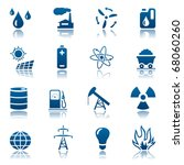 energy and resource icon set | Shutterstock .eps vector #68060260