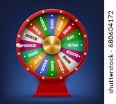 realistic spinning fortune... | Shutterstock .eps vector #680604172