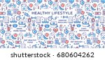 healthy lifestyle vector... | Shutterstock .eps vector #680604262