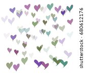 many pink  green and violet...   Shutterstock .eps vector #680612176