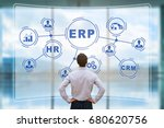 it manager analyzing the... | Shutterstock . vector #680620756