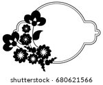 black and white silhouette... | Shutterstock .eps vector #680621566