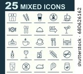 cafe icons set. collection of... | Shutterstock .eps vector #680626162
