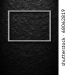 picture frame an black wall - stock photo