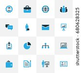 business colorful icons set....   Shutterstock .eps vector #680628325