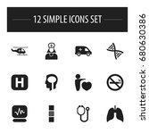 set of 12 editable clinic icons....