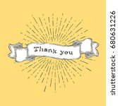 thank you  thank you text on... | Shutterstock .eps vector #680631226