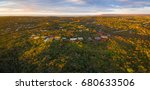 aerial panoramic view of luxury ... | Shutterstock . vector #680633506