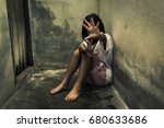 children violence and abused... | Shutterstock . vector #680633686